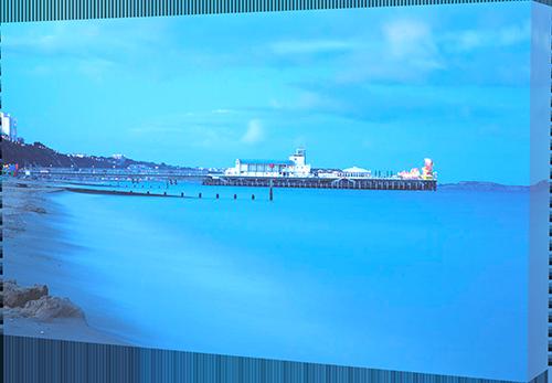 Bournemouth Beach - box canvas example