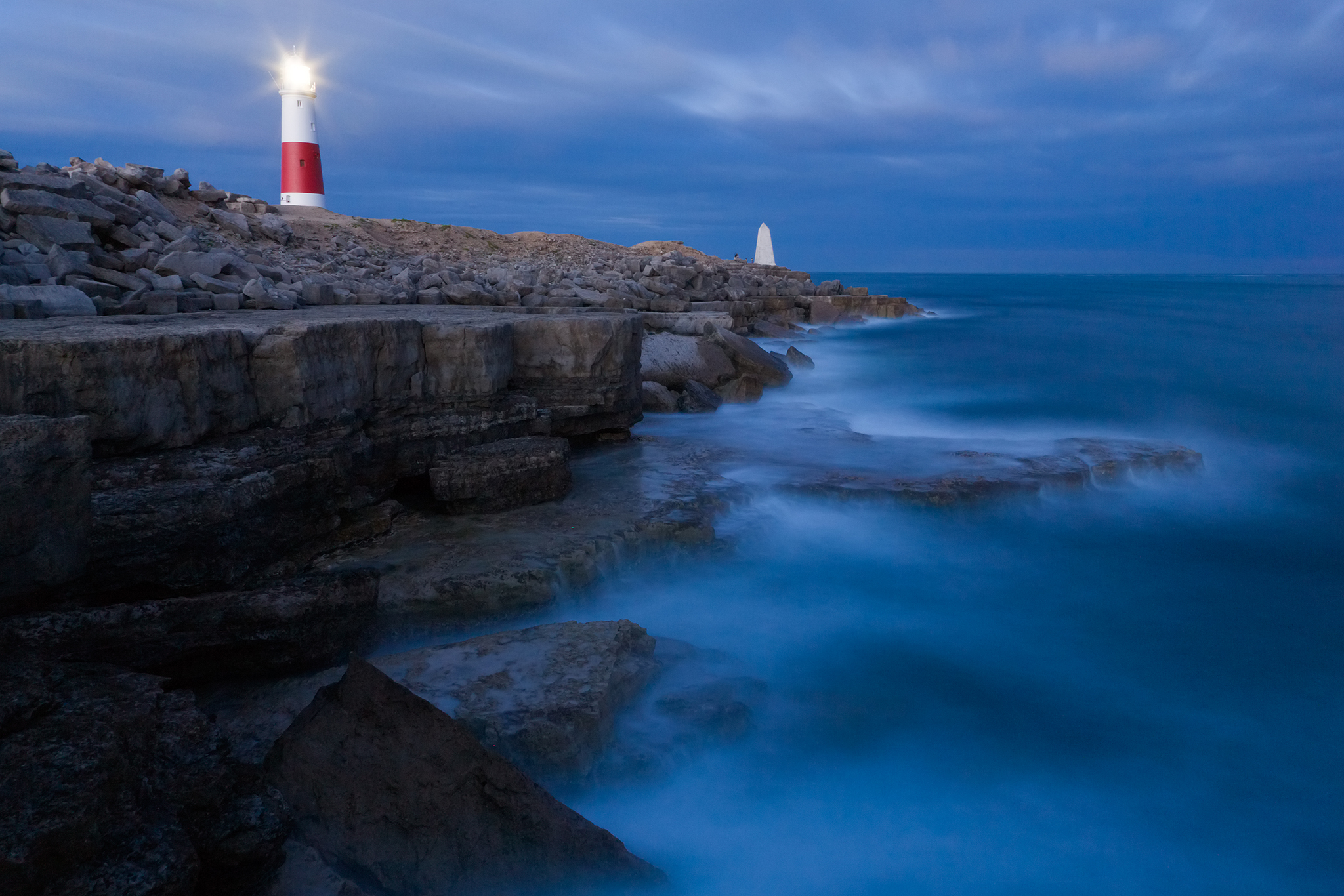 Lighthouse at Portland Bill, near Weymouth, Jurassic Coast, Dorset, England.