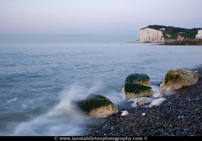 Morning at Saint Margaret Bay, at the famous White Cliff of Dover, Kent, England
