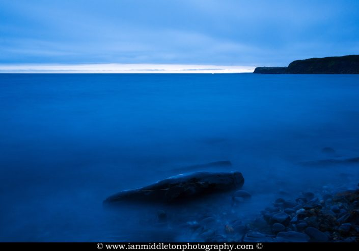 Dusk over the beautiful coastal landscape at Kimmeridge bay in Dorset. This is one of the many wonders to be found on the Jurassic coast, an UNESCO world heritage site.