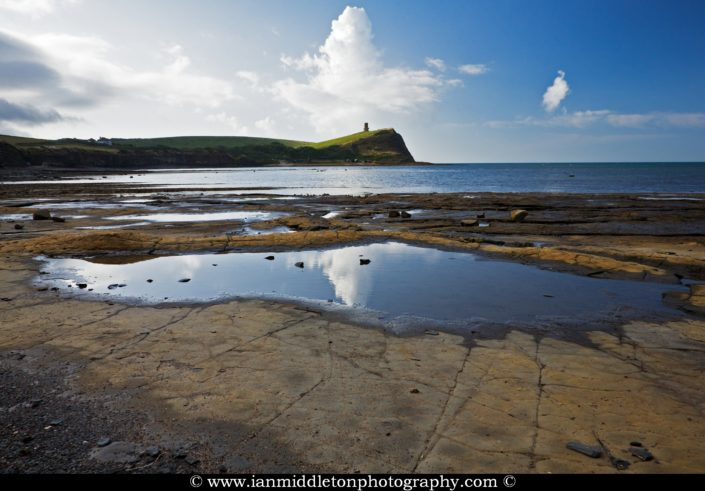 Morning reflections on the beautiful coastal landscape at Kimmeridge bay in Dorset. This is one of the many wonders to be found on the Jurassic coast, an UNESCO world heritage site.