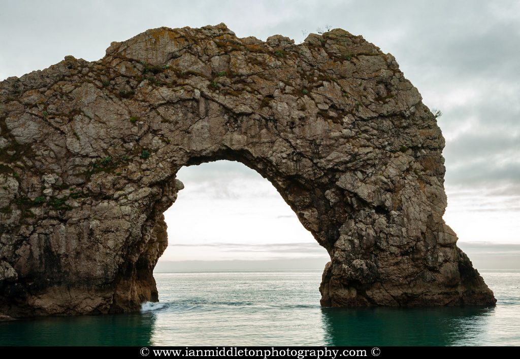 A view of the Durdle Door arch, Dorset, England. Durdle door is one of the many stunning locations to visit on the Jurassic coast in southern England.