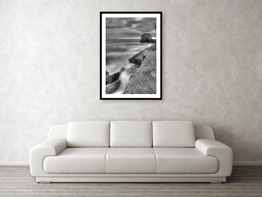 Framed print example of Pulpit Rock at Portland Bill photo.