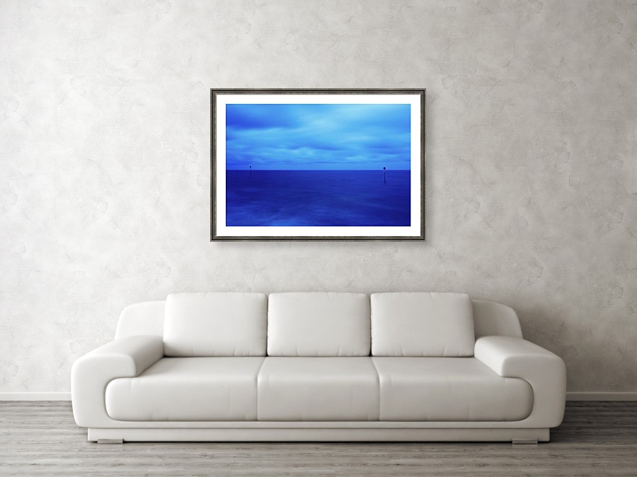 Framed print example of Hunstanton Beach at dawn photo.