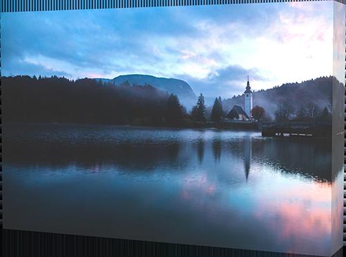 Lake Bohinj canvas print example