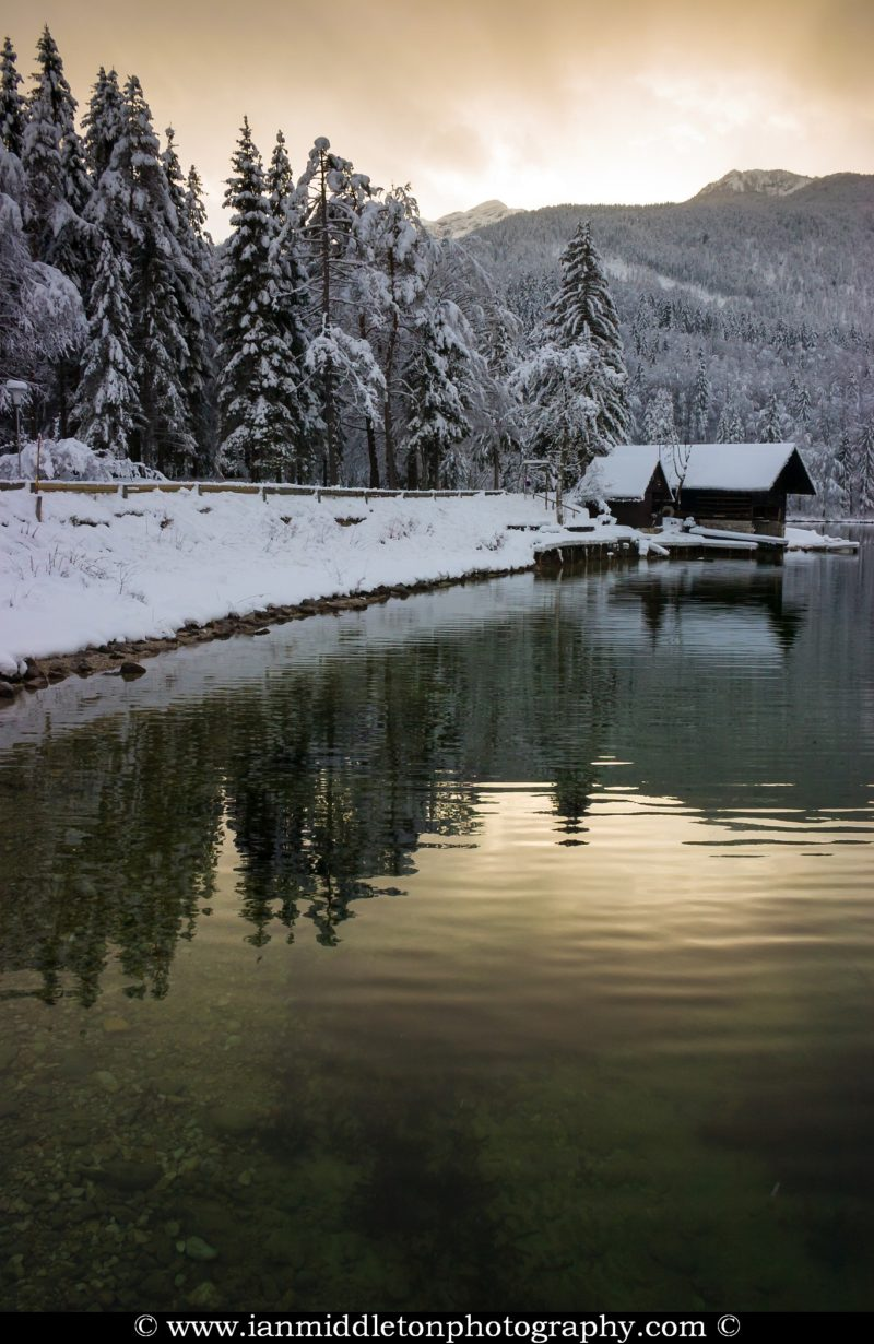 Lake Bohinj in Winter, Slovenia