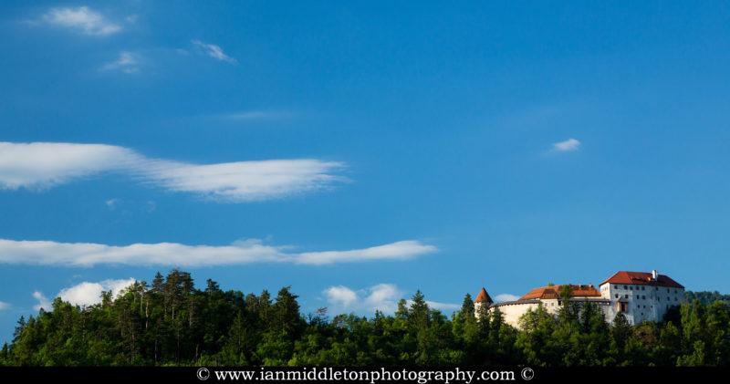 Lake Bled's hilltop castle, Slovenia.
