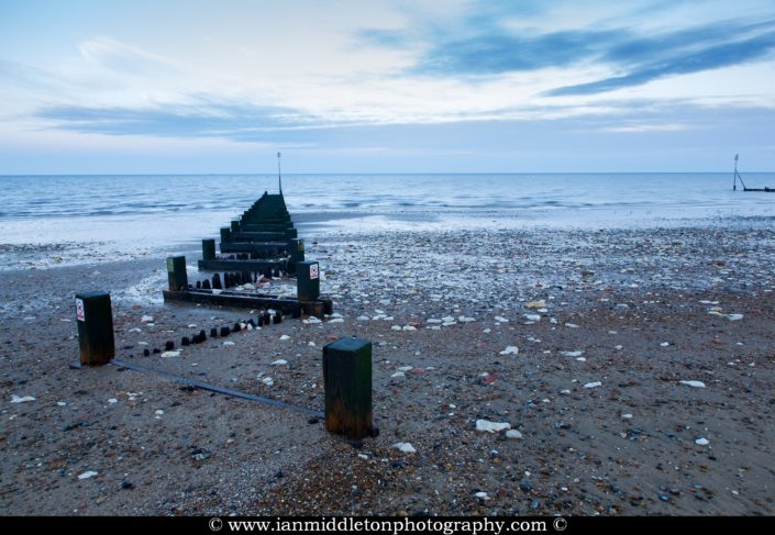 Hunstanton beach at dawn, West Norfolk, England.