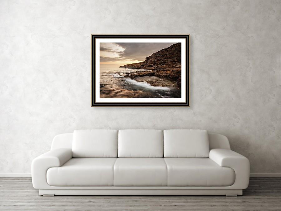 Framed print example of Seacombe Bay photo.