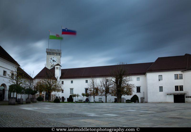 Ljubljana Castle courtyard, Slovenia.