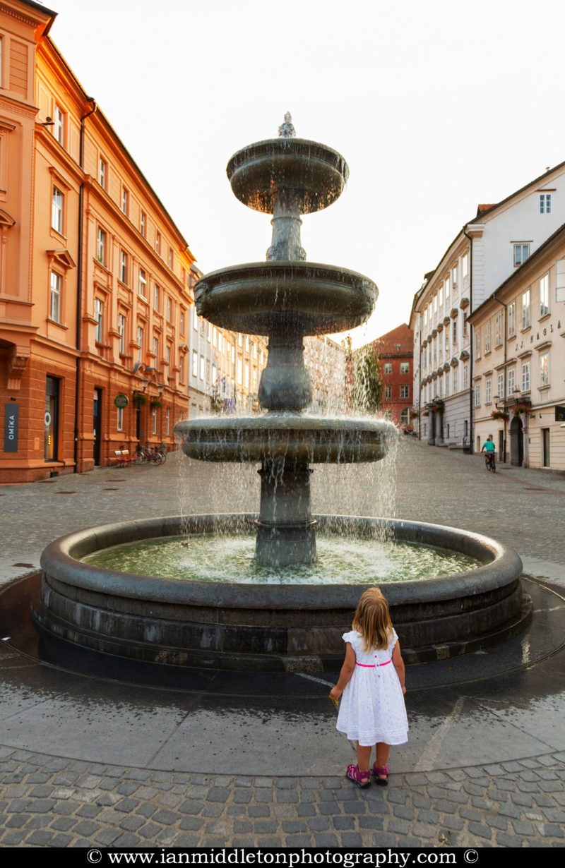 Fountain in Novi Trg, Ljubljana