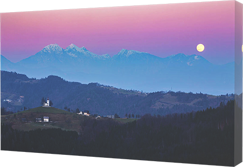 Canvas print example of Saint Thomas Church in Slovenia.