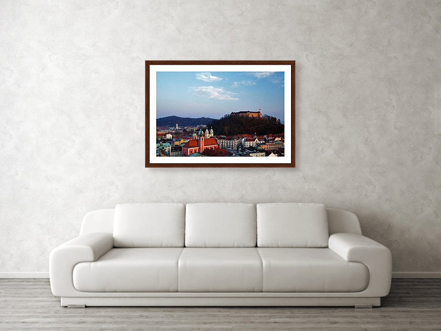 Framed print example of Ljubljana photo.