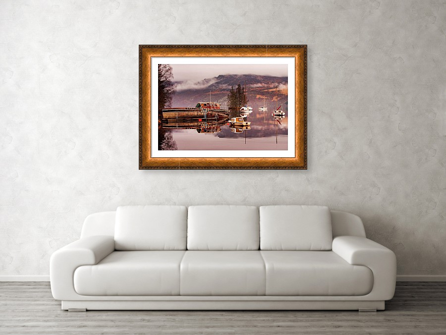 Framed print example of photo of Loch Ness in Scotland.