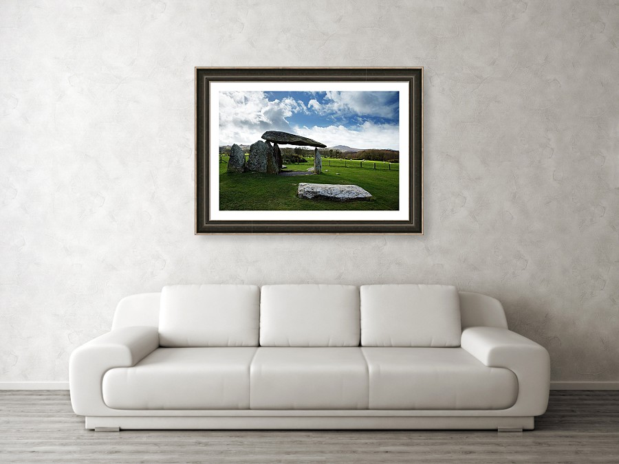 Framed print example of Pentre Ifan in Pembrokeshire photo.