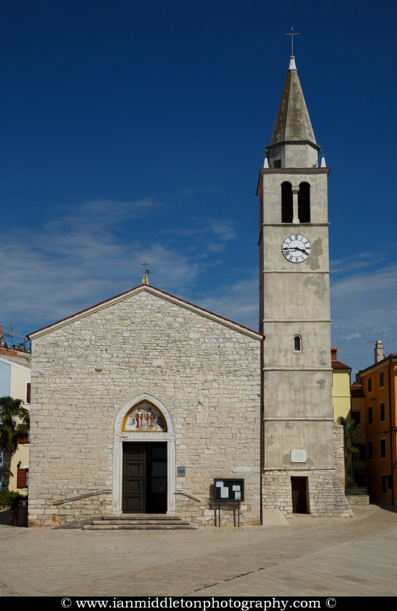 The parish church of St Kuzma and Damjan in Fažana, north of Pula, Istria, Croatia.