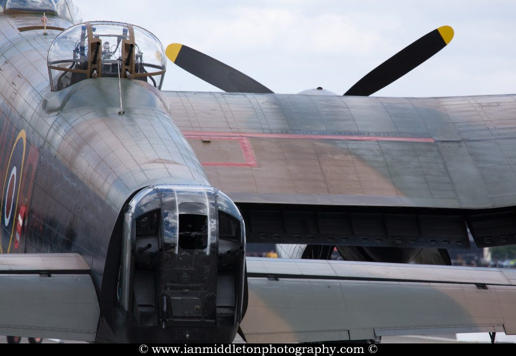 Avro lancaster bomber at Farnborough International Airshow, July 2010