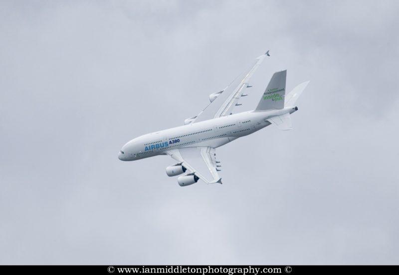 Airbus A380 at Farnborough International Airshow, July 2008