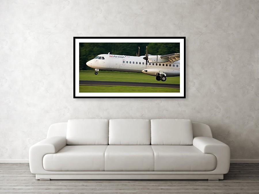 Aircraft landing framed print example