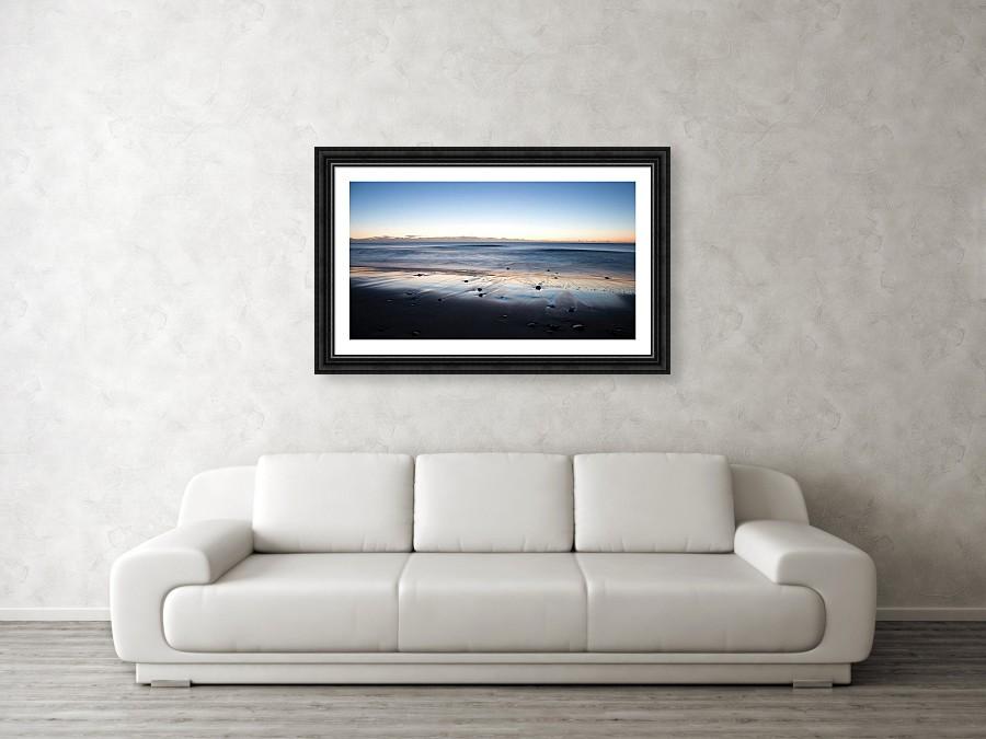 Framed print example of Ballynaclash Beach on Wexford, Ireland photo.