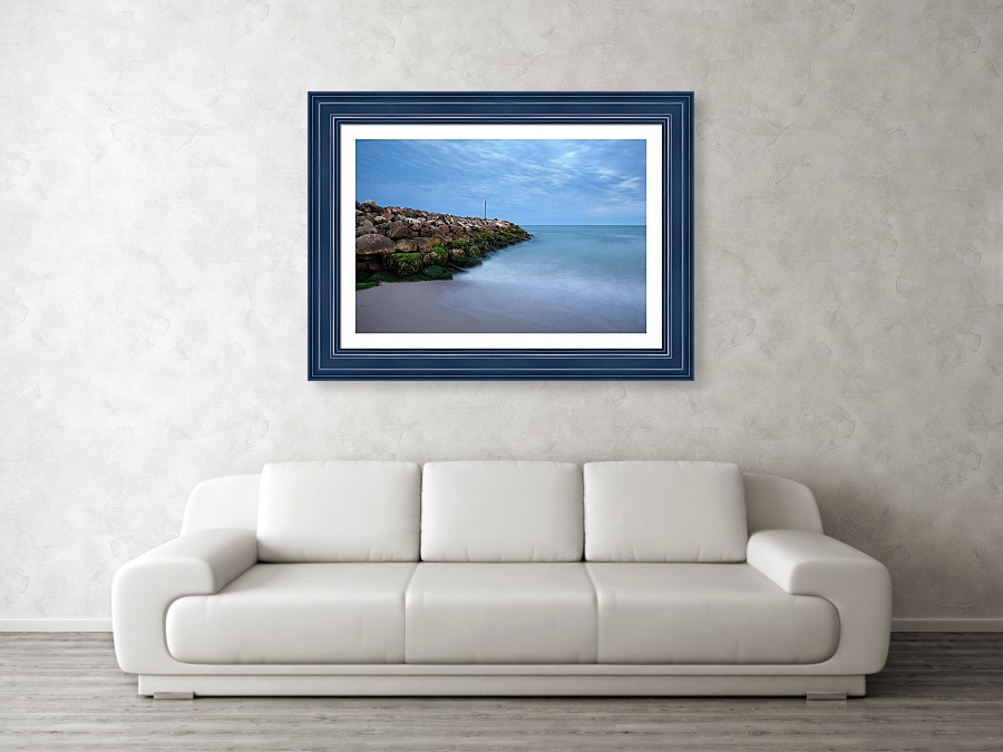 Framed print example of Highcliffe on sea photo.
