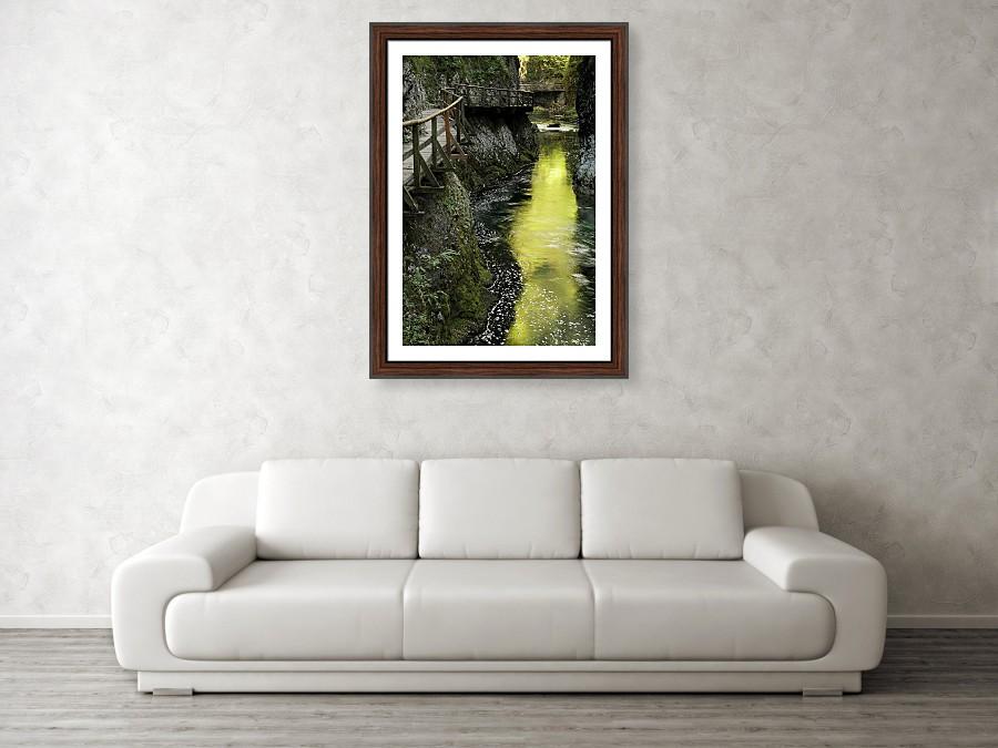 Framed print example of Vintgar Gorge photo.