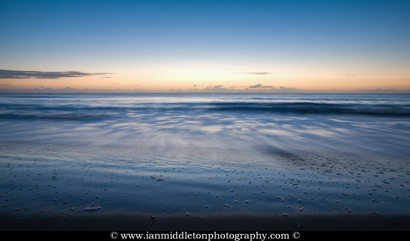 Blackwater beach at dawn, County Wexford, Ireland.
