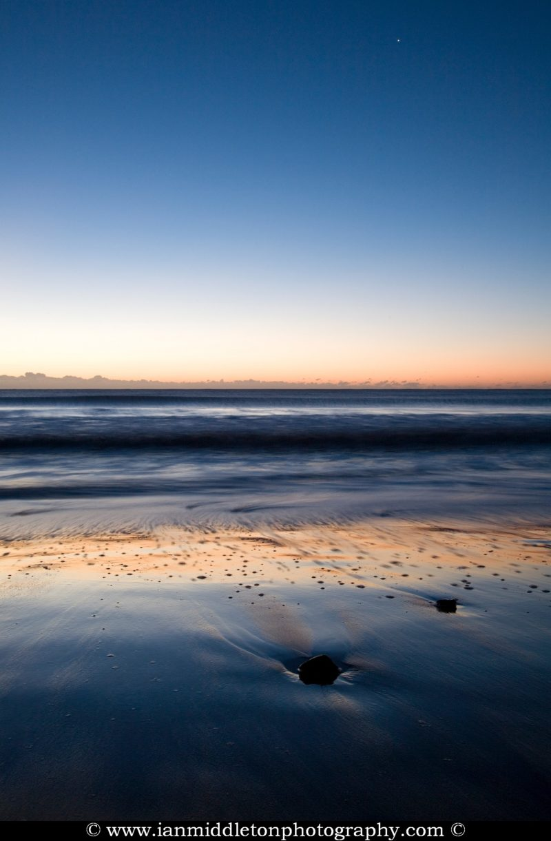 Ballynaclash beach at dawn, Blackwater, County Wexford, Ireland.