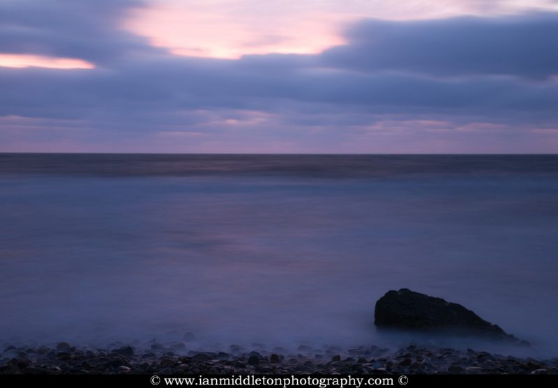 Ballyconnigar Strand at dawn, Blackwater, County Wexford, Ireland.