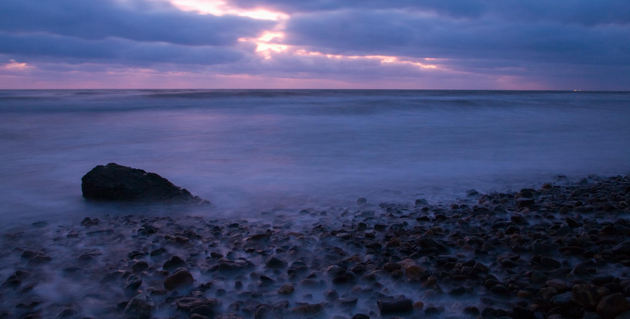 Ballyconnigar Strand at dawn, Blackwater, County Wexford, Ireland.