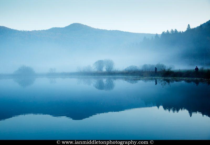 Jezero lake, near podpec. This lovely area lies in the Ljubljansko Barje (Ljubljana Marsh) area to the south west of the capital Ljubljana, Slovenia.