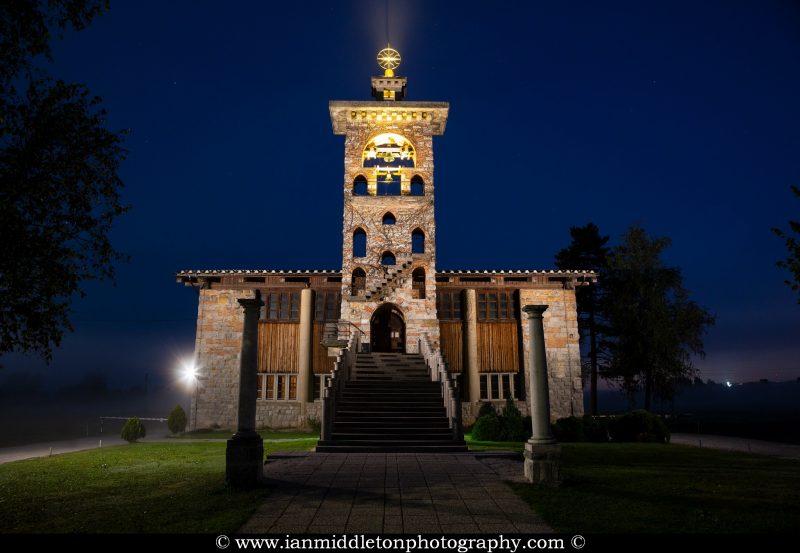 Church of Saint Michael at dawn, Crna Vas, Slovenia.