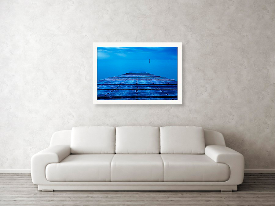 Kingsdown at dawn, fine art photography example hanging on wall