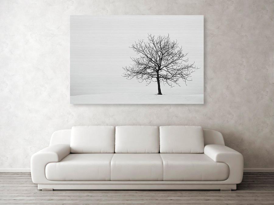 Winter tree - wood print example
