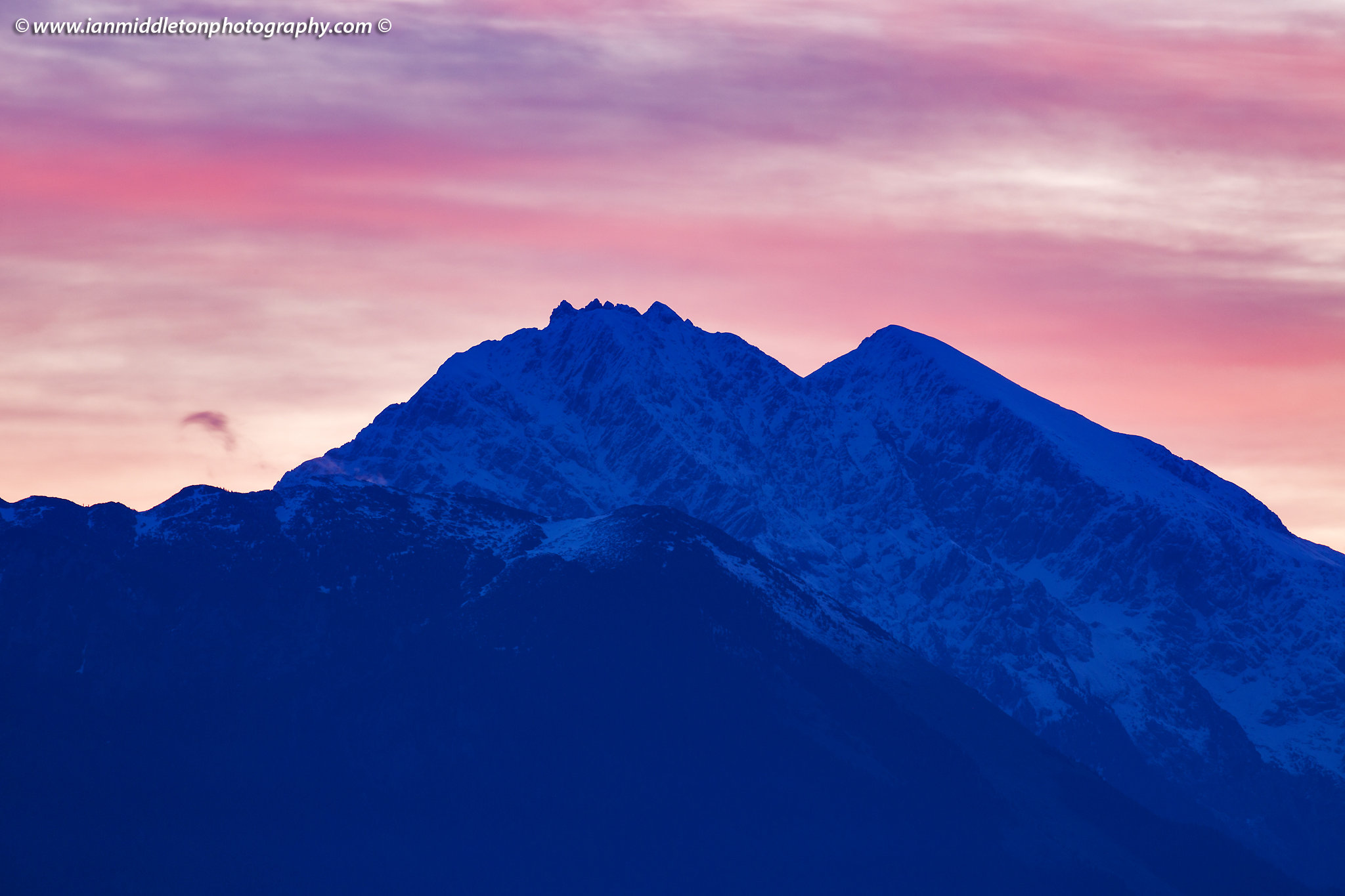 Mount Kocna at sunrise, Kamnik Alps, Slovenia.