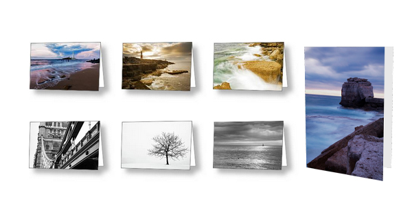 Photos printed on greeting cards