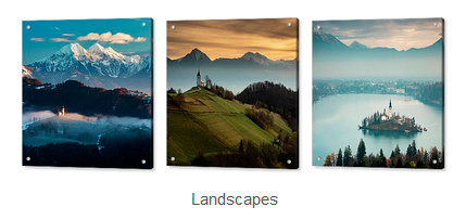 Landscape photos on acrylic