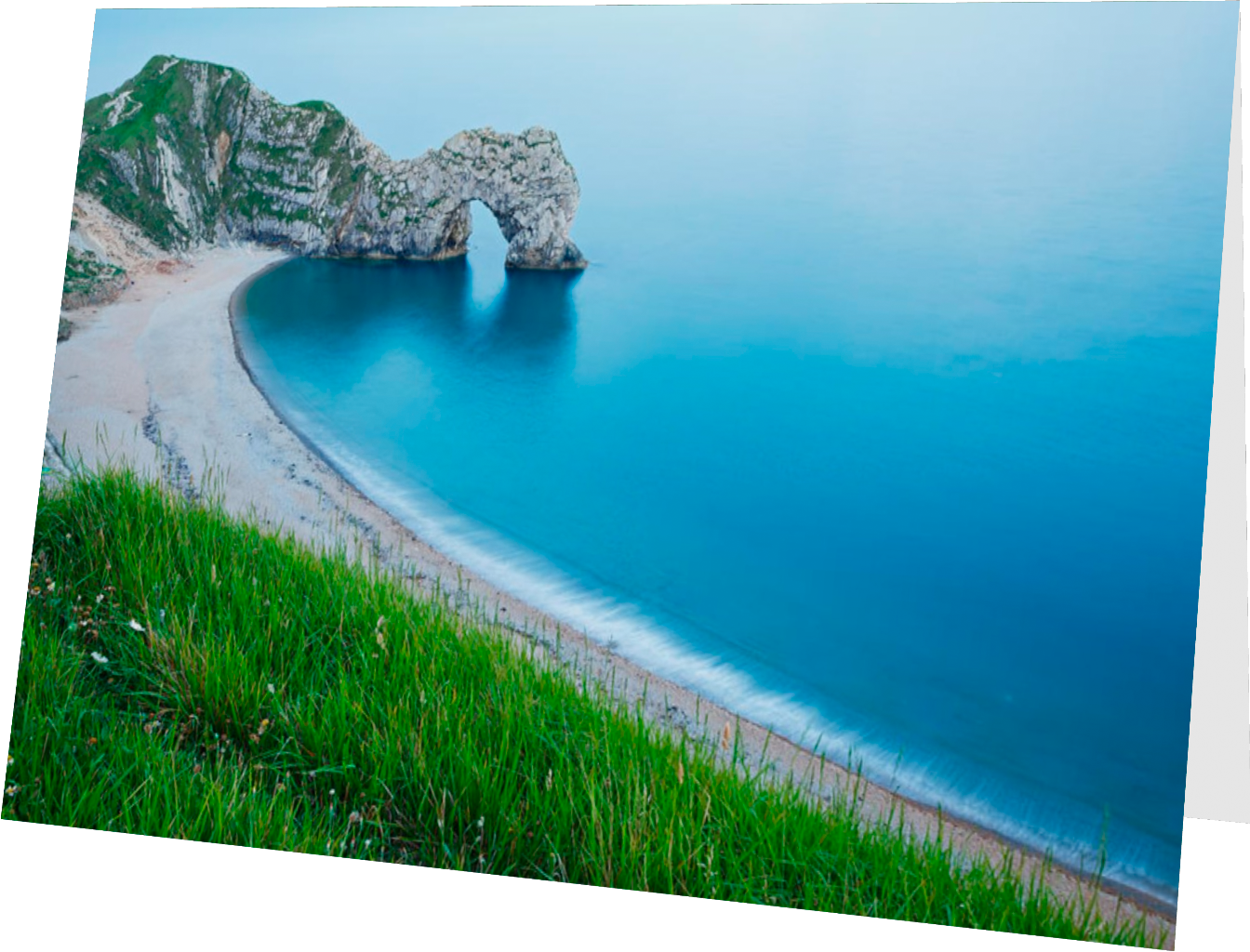 Durdle Door on the Jurassic Coast - greeting card example
