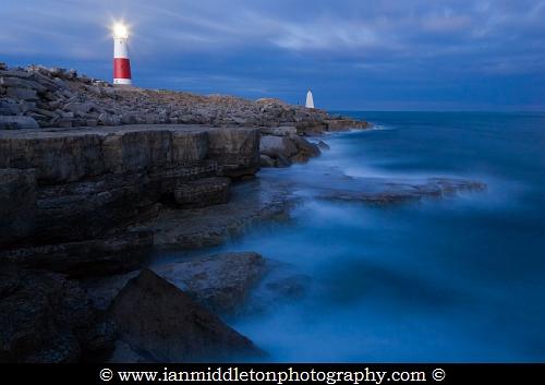 Lighthouse at Portland Bill, near Weymouth, Jurassic Coast, Dorset, England.
