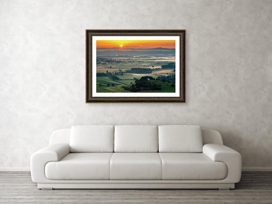 Framed print example of photo of the Ljubljana Marshes, Slovenia.