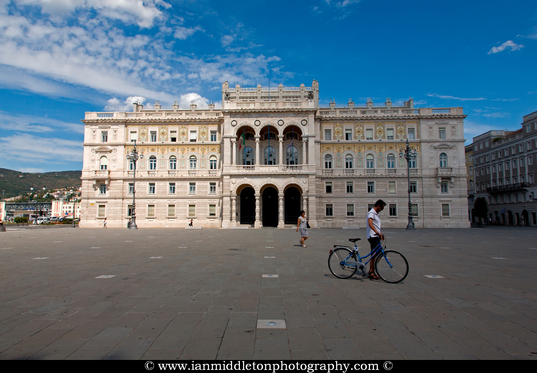 The government palace (Commissariato Palazzo Del Governo Nella Regione Friuli-Venezia Giulia) in Piazza unita d'italia, Trieste, Italy. This is the main town square in Trieste and this is just one example of the beautiful ornate architecture in this wonderful little port town on the Adriatic.