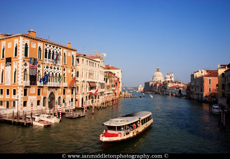 View across the Grand Canal in Venice, Italy.