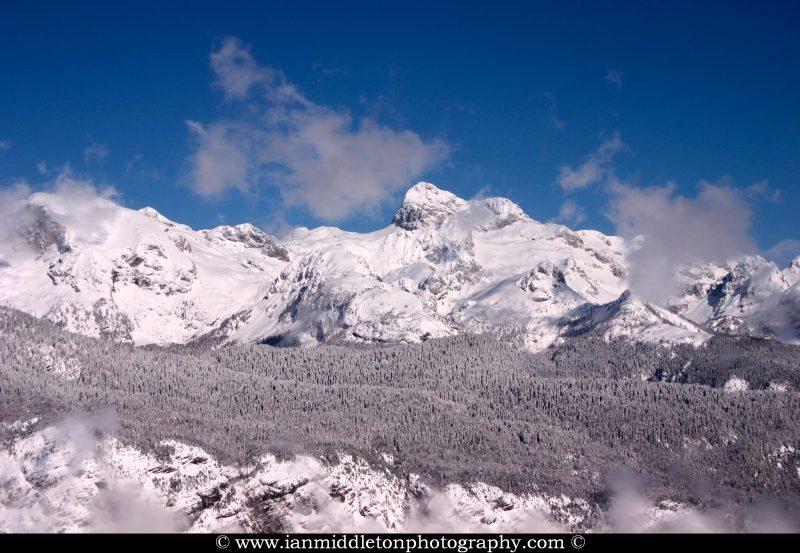 Mount Triglav and the Julian Alps in Winter, Slovenia