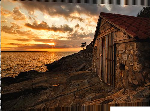 Sunrise at Losinj Island Metal print example