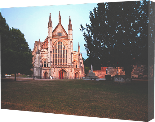 Winchester cathedral canvas print example.