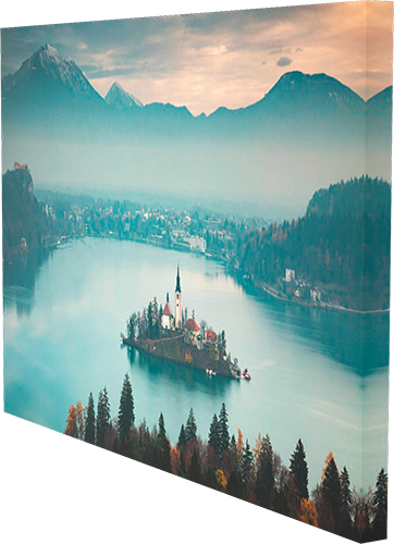 Lake Bled from Ojstrica box canvas print example