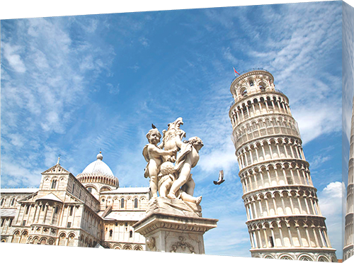 Leaning tower of Pisa in Italy - Canvas print example