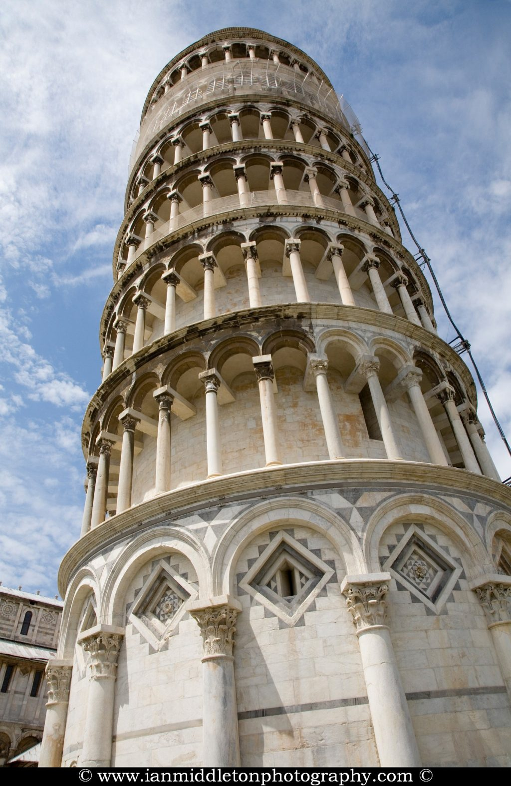 Leaning tower in Campo di Miracoli (field of Miracles), Pisa, Tuscany, Italy