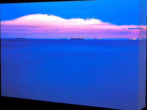 Trieste Bay - canvas print example.