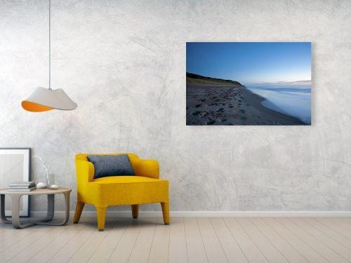 Acrylic print example of Ballynaclash Beach at dawn in Ireland.